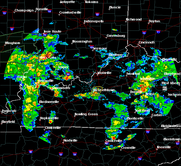 Radar Image for Severe Thunderstorms near Elizabethtown, KY at 6/19/2015 5:20 PM EDT