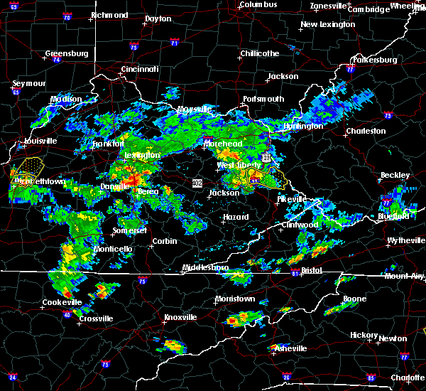 Radar Image for Severe Thunderstorms near Warfield, KY at 6/19/2015 5:32 PM EDT
