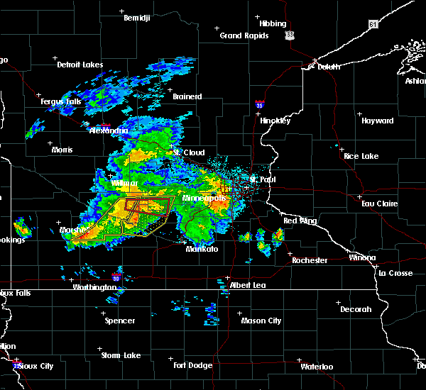 Radar Image for Severe Thunderstorms near Gaylord, MN at 6/30/2019 11:09 PM CDT