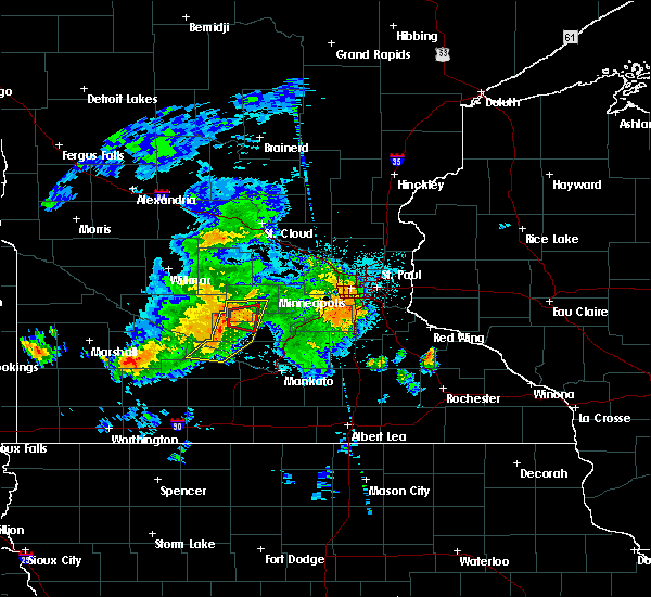 Radar Image for Severe Thunderstorms near Gaylord, MN at 6/30/2019 11:19 PM CDT