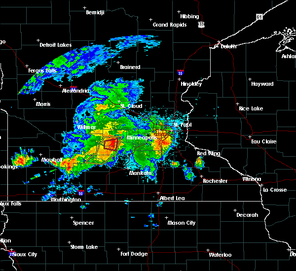 Radar Image for Severe Thunderstorms near Gaylord, MN at 6/30/2019 11:25 PM CDT