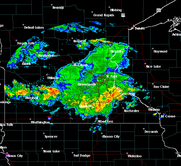 Radar Image for Severe Thunderstorms near Lake City, MN at 7/1/2019 1:07 AM CDT