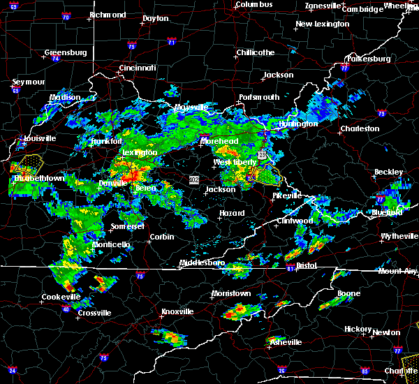 Radar Image for Severe Thunderstorms near Warfield, KY at 6/19/2015 5:45 PM EDT