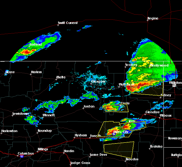 Radar Image for Severe Thunderstorms near Brockton, MT at 6/19/2015 3:48 PM MDT