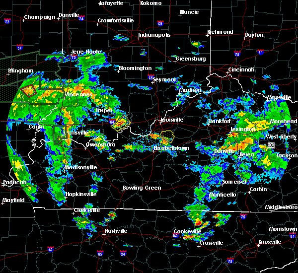 Radar Image for Severe Thunderstorms near Hillview, KY at 6/19/2015 5:55 PM EDT