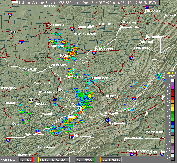 Radar Image for Severe Thunderstorms near Albany, OH at 7/2/2019 12:39 PM EDT