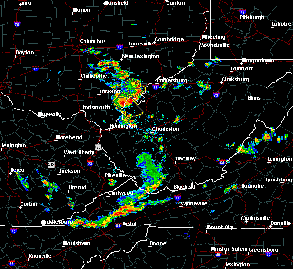 Radar Image for Severe Thunderstorms near Hockingport, OH at 7/2/2019 1:26 PM EDT