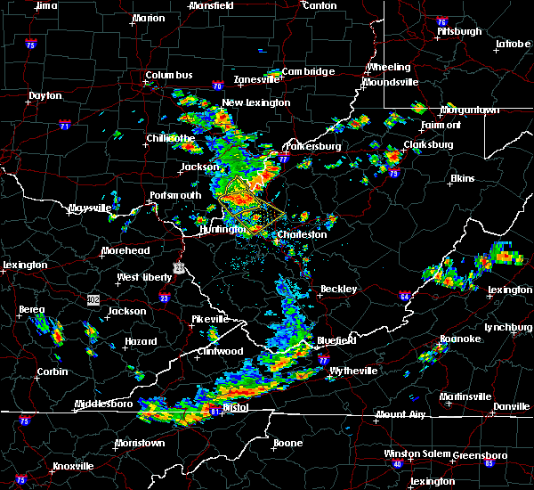 Radar Image for Severe Thunderstorms near Gallipolis, OH at 7/2/2019 1:58 PM EDT