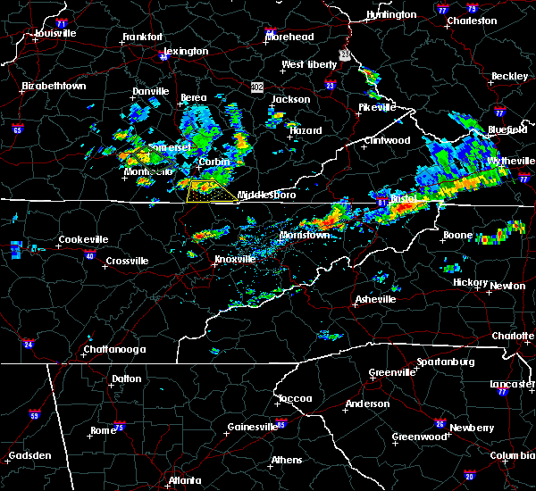 Radar Image for Severe Thunderstorms near Middlesborough, KY at 7/2/2019 2:45 PM EDT