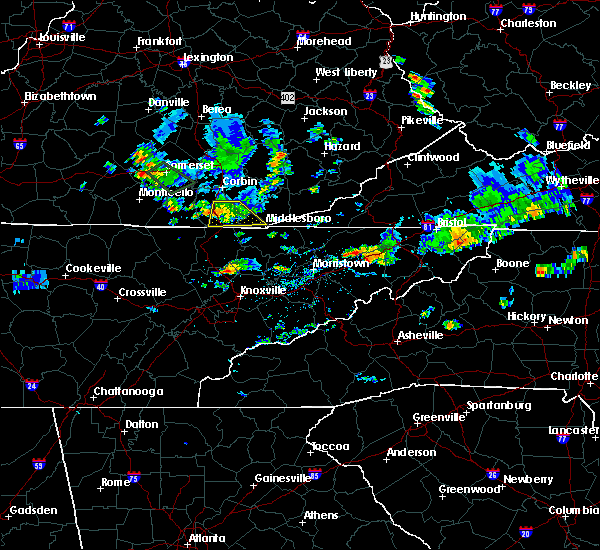Radar Image for Severe Thunderstorms near Middlesborough, KY at 7/2/2019 3:08 PM EDT
