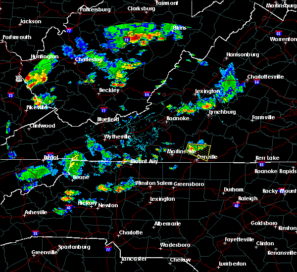 Radar Image for Severe Thunderstorms near Blairs, VA at 7/2/2019 4:15 PM EDT