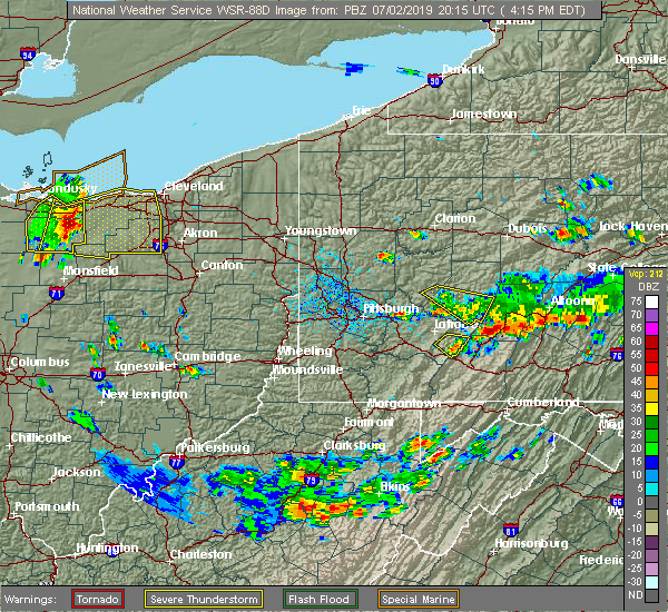 Radar Image for Severe Thunderstorms near Fairview, PA at 7/2/2019 4:21 PM EDT