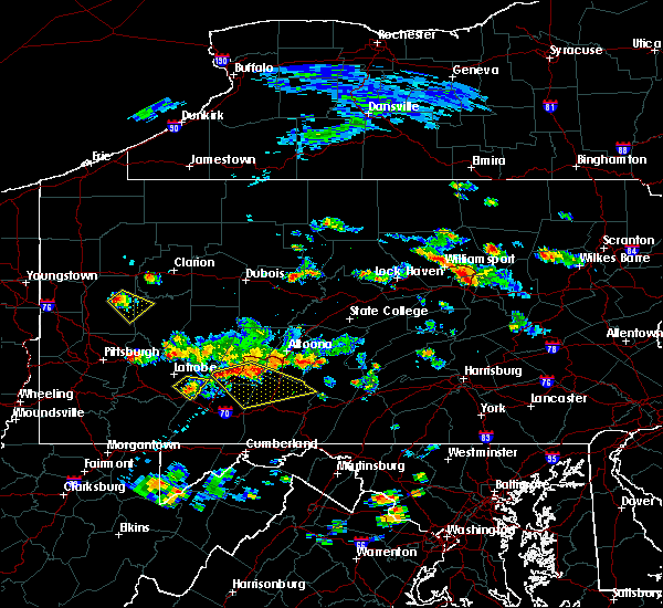 Radar Image for Severe Thunderstorms near Pleasantville, PA at 7/2/2019 4:21 PM EDT