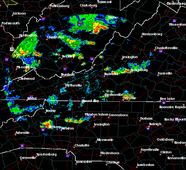 Radar Image for Severe Thunderstorms near Blairs, VA at 7/2/2019 4:51 PM EDT