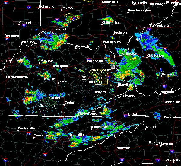 Radar Image for Severe Thunderstorms near Prestonsburg, KY at 7/2/2019 5:17 PM EDT