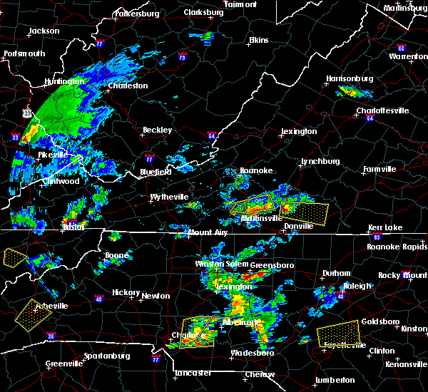 Radar Image for Severe Thunderstorms near Union Hall, VA at 6/19/2015 6:16 PM EDT