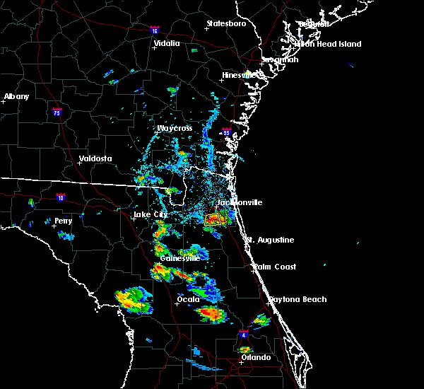 Radar Image for Severe Thunderstorms near Fleming Island, FL at 7/2/2019 5:32 PM EDT