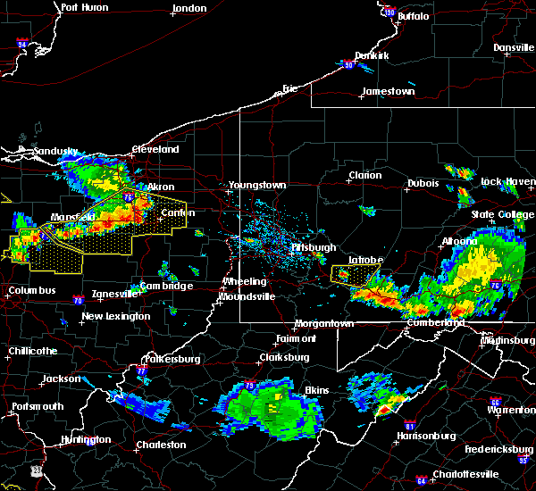 Radar Image for Severe Thunderstorms near Youngstown, PA at 7/2/2019 5:47 PM EDT