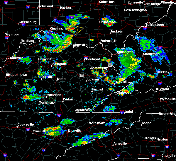 Radar Image for Severe Thunderstorms near Paintsville, KY at 7/2/2019 5:53 PM EDT