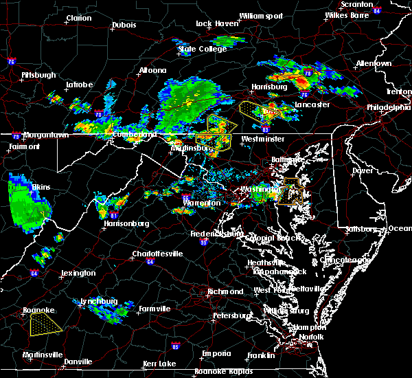 Radar Image for Severe Thunderstorms near Union Bridge, MD at 7/2/2019 6:21 PM EDT