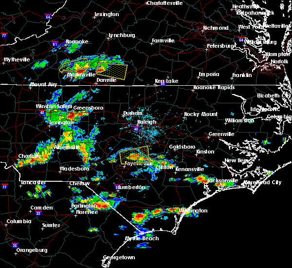 Radar Image for Severe Thunderstorms near Godwin, NC at 6/19/2015 6:25 PM EDT