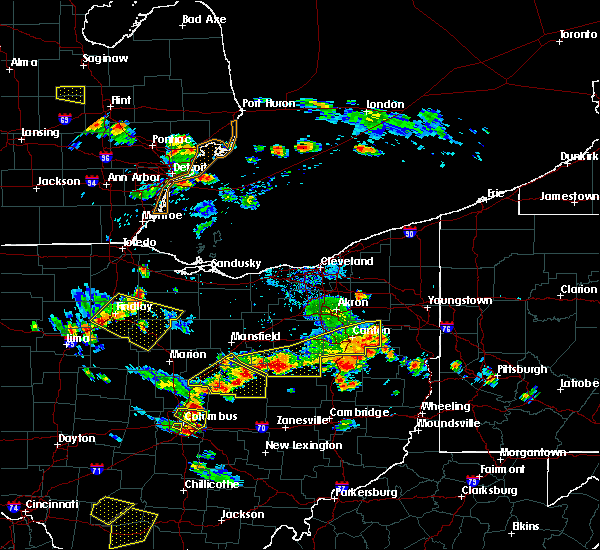 Radar Image for Severe Thunderstorms near Massillon, OH at 7/2/2019 6:27 PM EDT