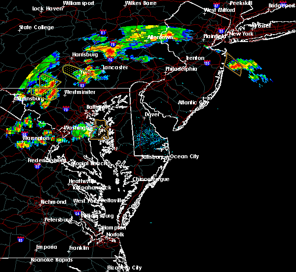 Radar Image for Severe Thunderstorms near Lancaster, PA at 7/2/2019 6:30 PM EDT