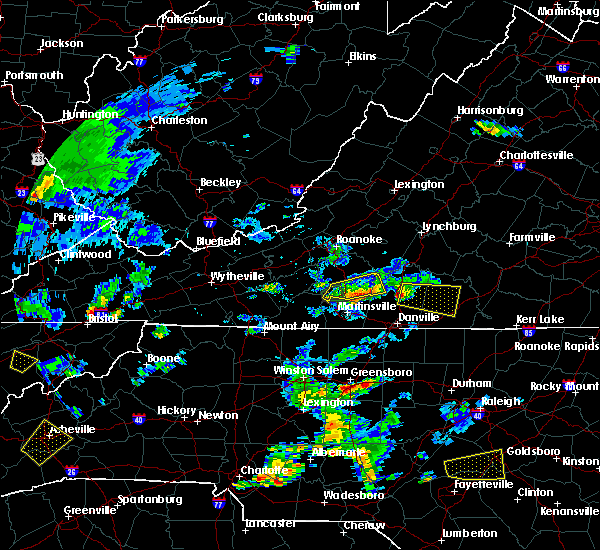 Radar Image for Severe Thunderstorms near Union Hall, VA at 6/19/2015 6:25 PM EDT