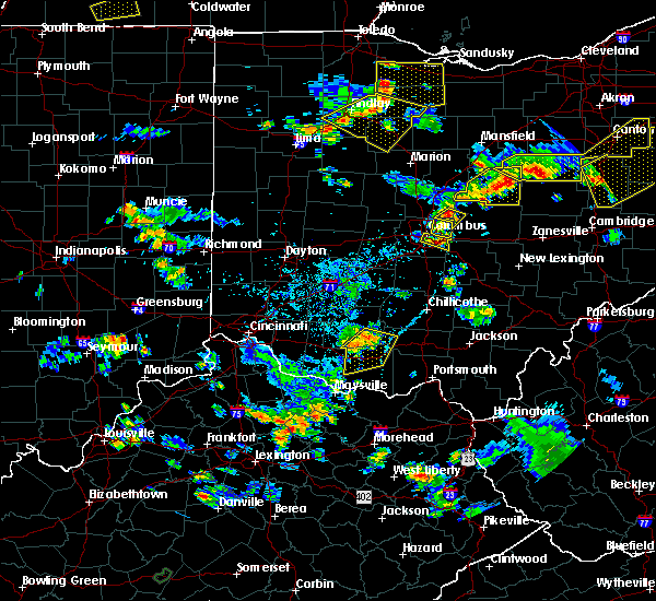 Radar Image for Severe Thunderstorms near Westerville, OH at 7/2/2019 6:34 PM EDT