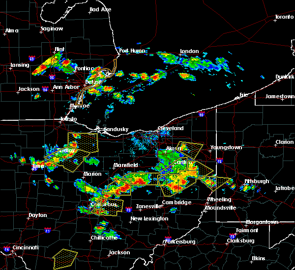 Radar Image for Severe Thunderstorms near Massillon, OH at 7/2/2019 6:43 PM EDT