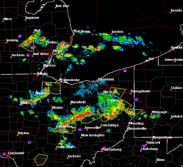 Radar Image for Severe Thunderstorms near Howard, OH at 7/2/2019 6:52 PM EDT