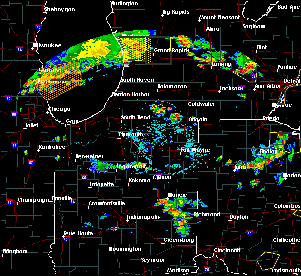 Radar Image for Severe Thunderstorms near Centreville, MI at 7/2/2019 6:54 PM EDT