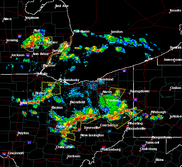 Radar Image for Severe Thunderstorms near South Canal, OH at 7/2/2019 7:09 PM EDT