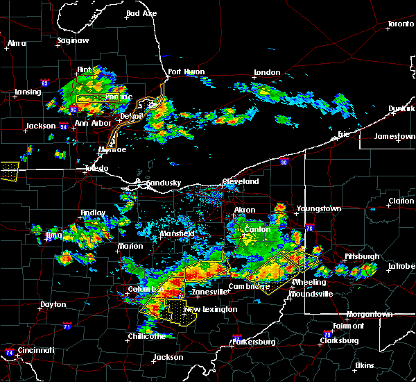 Radar Image for Severe Thunderstorms near Coshocton, OH at 7/2/2019 7:19 PM EDT