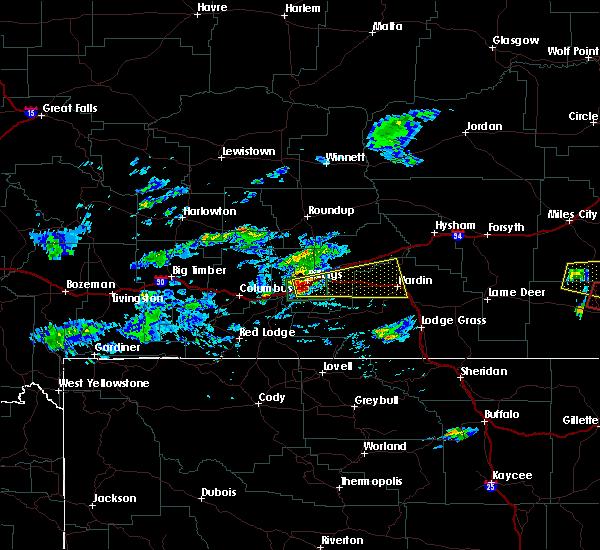 Radar Image for Severe Thunderstorms near Billings, MT at 6/19/2015 4:40 PM MDT