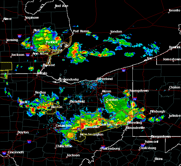 Radar Image for Severe Thunderstorms near Coshocton, OH at 7/2/2019 7:42 PM EDT