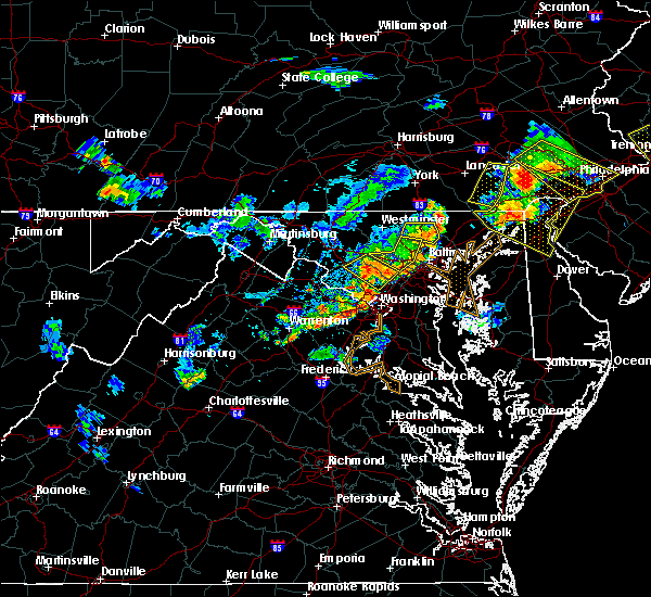 Radar Image for Severe Thunderstorms near Woodlawn, MD at 7/2/2019 7:43 PM EDT