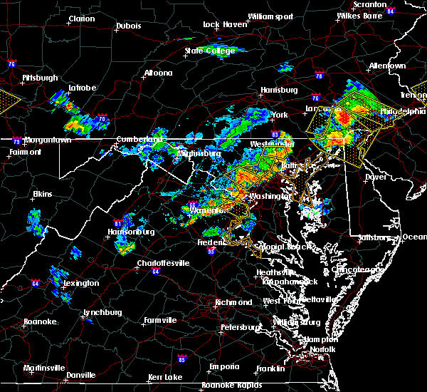 Radar Image for Severe Thunderstorms near Seven Corners, VA at 7/2/2019 7:45 PM EDT