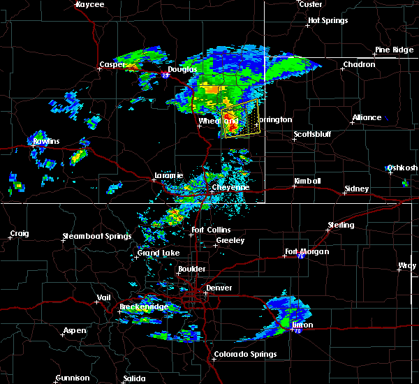 Radar Image for Severe Thunderstorms near Fort Laramie, WY at 7/2/2019 5:47 PM MDT