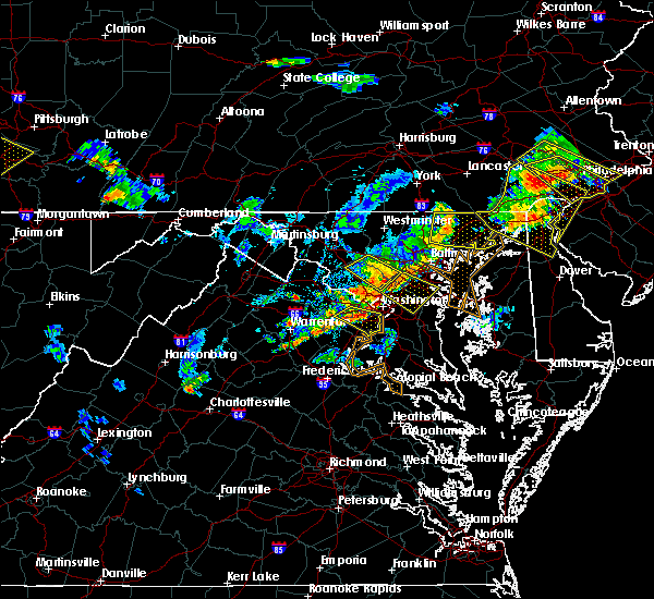 Radar Image for Severe Thunderstorms near Woodmore, MD at 7/2/2019 7:56 PM EDT