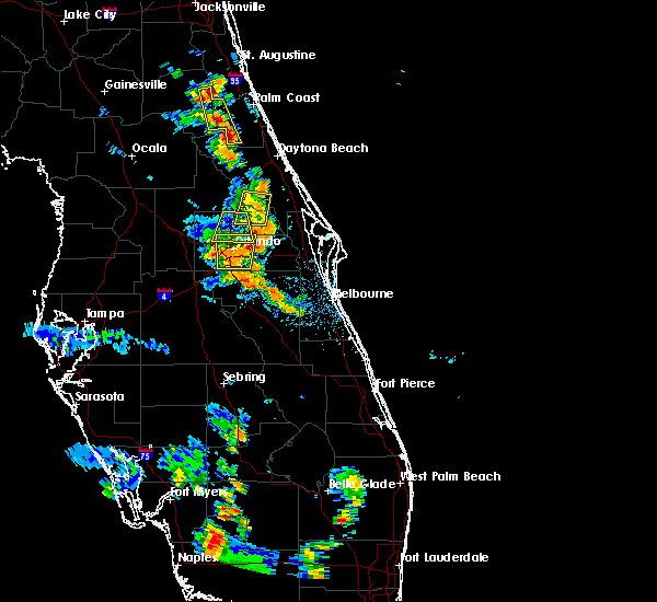 Radar Image for Severe Thunderstorms near Wekiwa Springs, FL at 6/19/2015 6:42 PM EDT