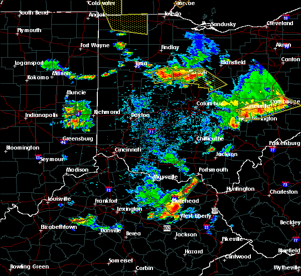 Radar Image for Severe Thunderstorms near Waldo, OH at 7/2/2019 8:07 PM EDT