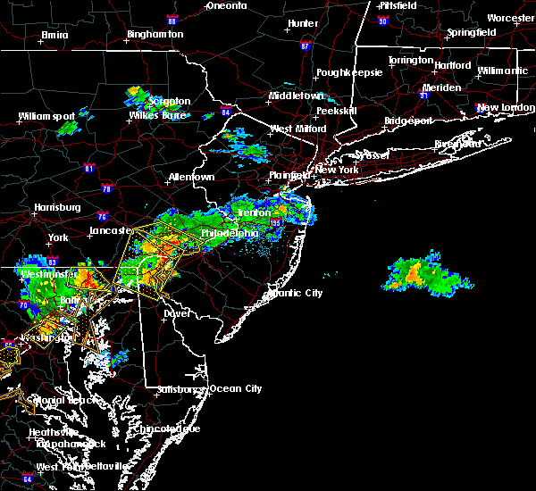 Radar Image for Severe Thunderstorms near Clayton, NJ at 7/2/2019 8:13 PM EDT