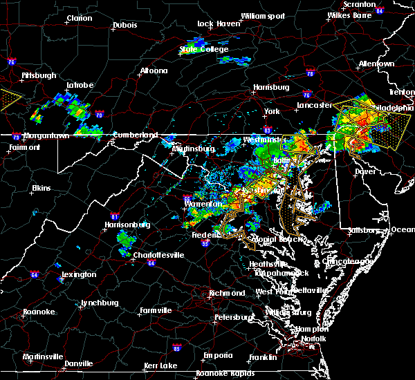 Radar Image for Severe Thunderstorms near Fort Washington, MD at 7/2/2019 8:23 PM EDT
