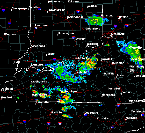 Radar Image for Severe Thunderstorms near Eminence, KY at 7/2/2019 9:56 PM EDT