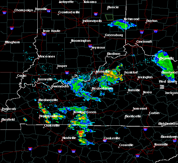 Radar Image for Severe Thunderstorms near Eminence, KY at 7/2/2019 10:18 PM EDT
