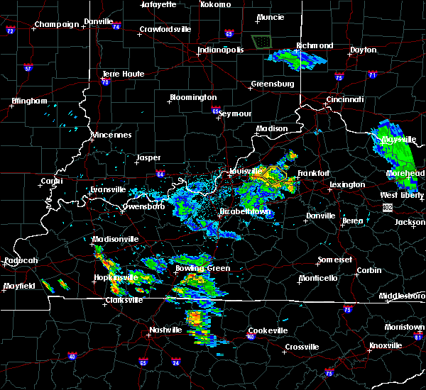 Radar Image for Severe Thunderstorms near Eminence, KY at 7/2/2019 10:26 PM EDT