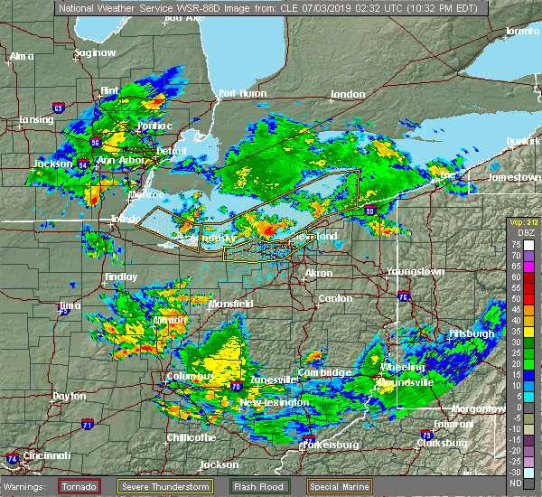 Radar Image for Severe Thunderstorms near Oberlin, OH at 7/2/2019 10:38 PM EDT
