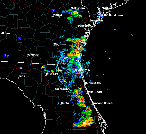 Radar Image for Severe Thunderstorms near Bunnell, FL at 6/19/2015 6:55 PM EDT