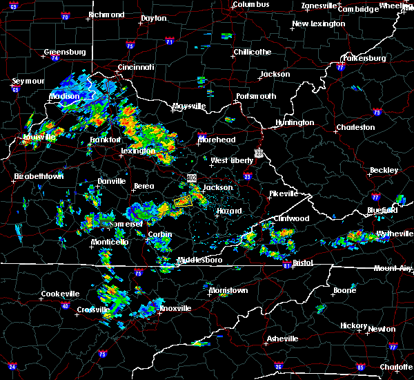 Radar Image for Severe Thunderstorms near Jackson, KY at 7/3/2019 2:53 PM EDT